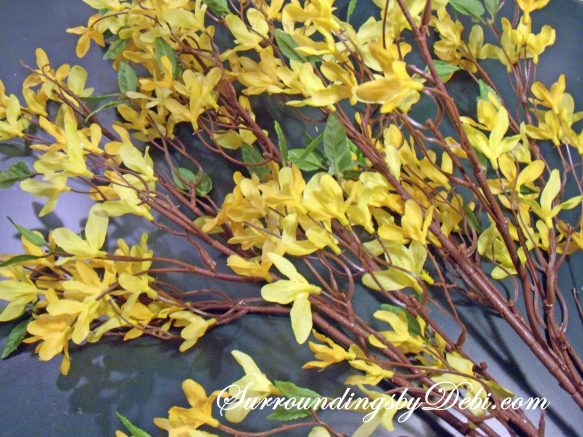 How to make a Simple Forsythia Wreath - Surroundings by Debi