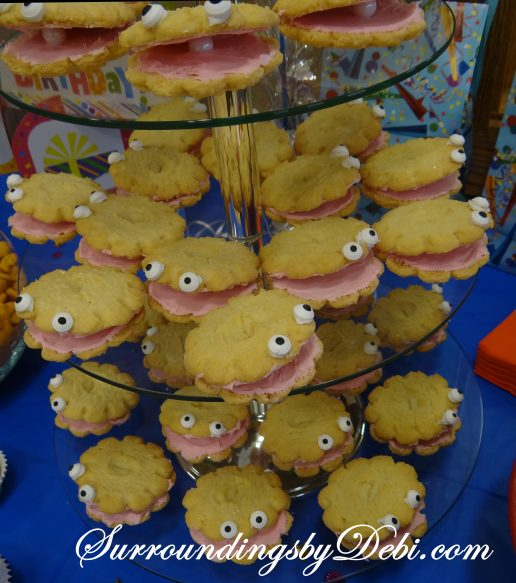 """Under the Sea"" Birthday Party Clam Cookies"