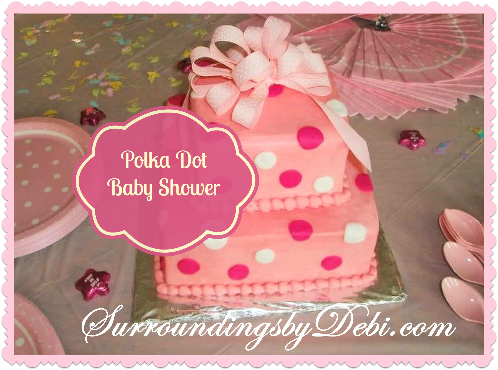 it 39 s a polka dot baby shower surroundings by debi
