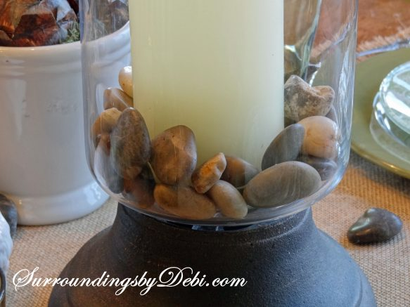 Candles with Stones 1