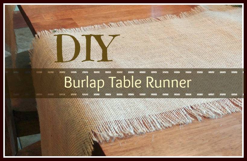 Burlap Table Runner �...