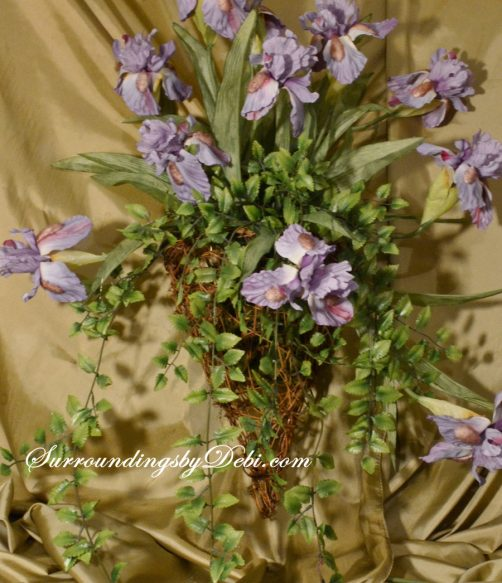 Hanging-Greens-in-Iris-Basket