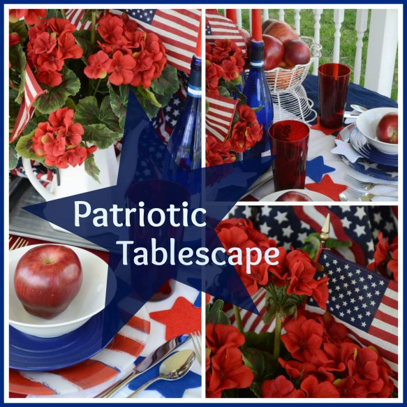 Patriotic Tablescape Collage