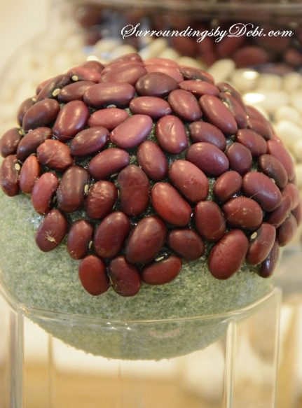 Red Bean Sphere on Glass