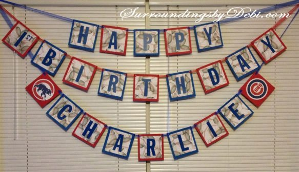 Cubs Birthday Party -Banner