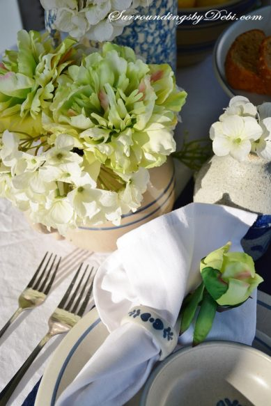 Breakfast-Table-Green-Flowe