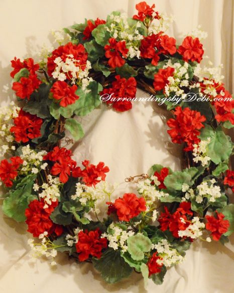 Red-Geranium-Wreath-with-Ba