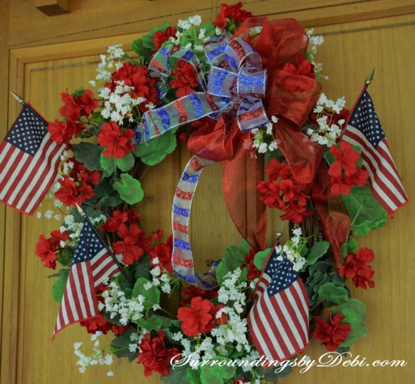 Red-Geranium-Wreath-with-Pa