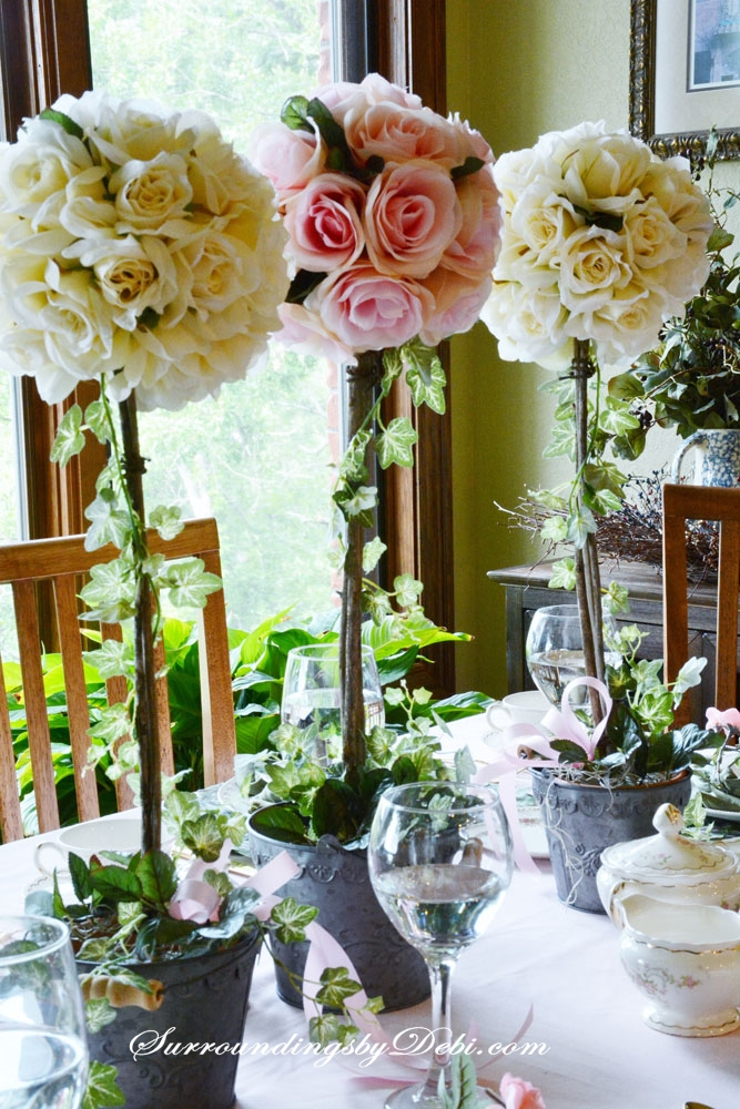 Diy rose topiaries a perfect summer addition
