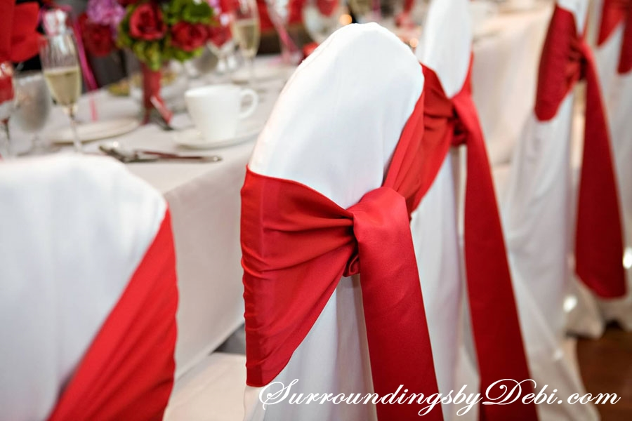 Weddings For The Th Of July Part Wedding Reception - Wedding chair ties