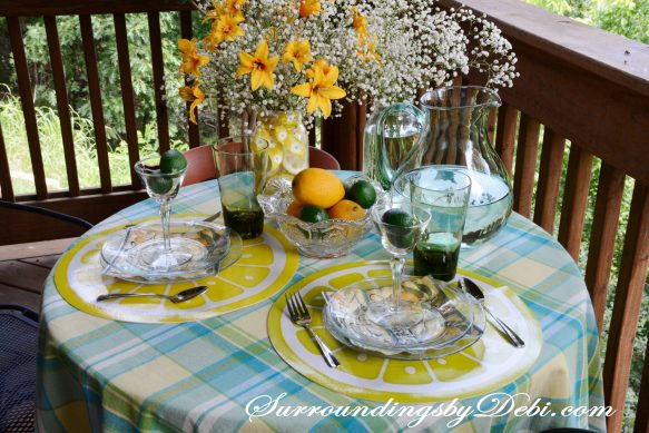 Citrus-Tablescape---Plaid-Tablec