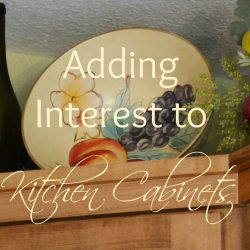 Adding Interest to Kitchen Cabinets with a Fabulous Find