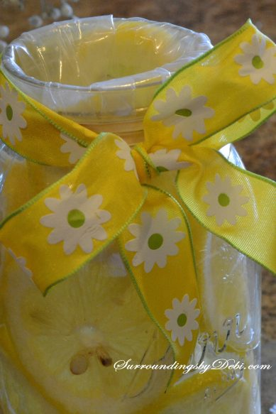 Lemon Vase - Adding the Ribbon