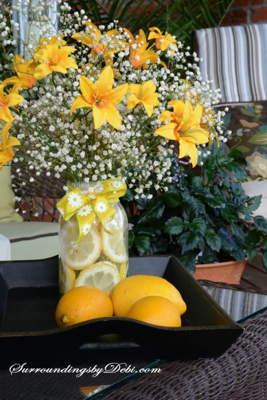 Lemon Vase - Porch Decor