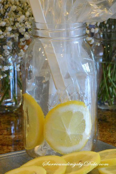 Leomon Vase - Adding Lemon Slices