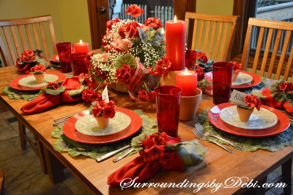Red-Geranium-Tablescape