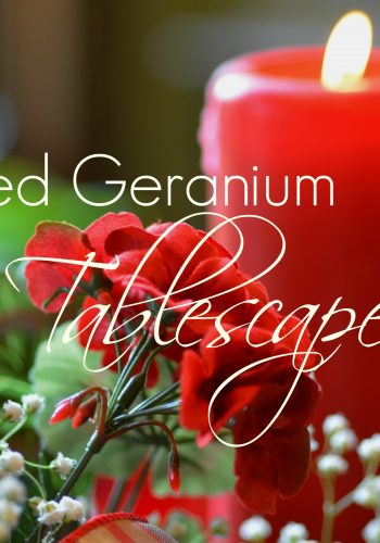Red Geranium Tablescape – Welcome to a Garden Party!