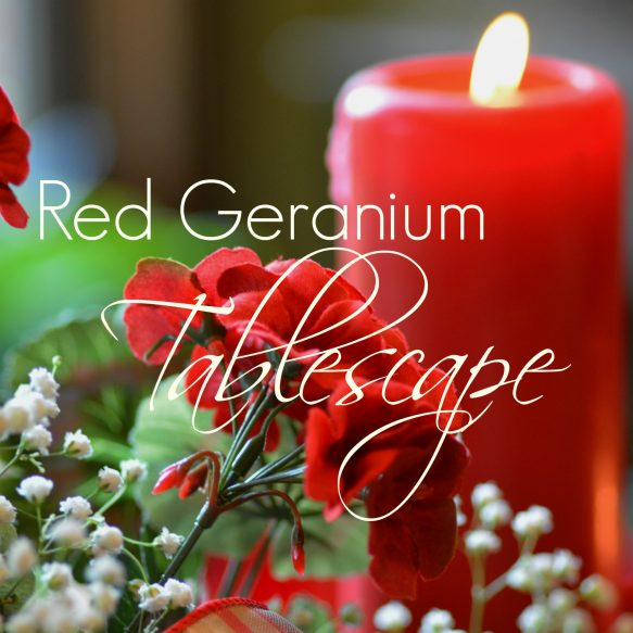 Red Geranium Tablescape Overlay