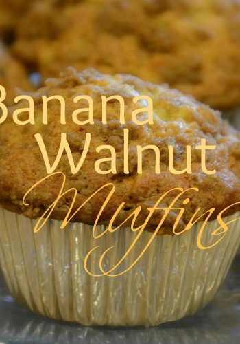 Simply Delicious Banana Walnut Muffins!