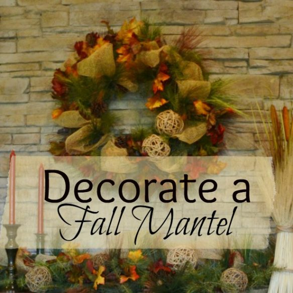 Completed Fall Mantel Overlay