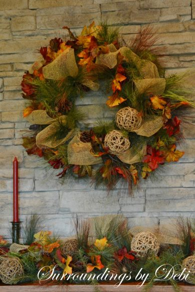 Fall Mantel Garland