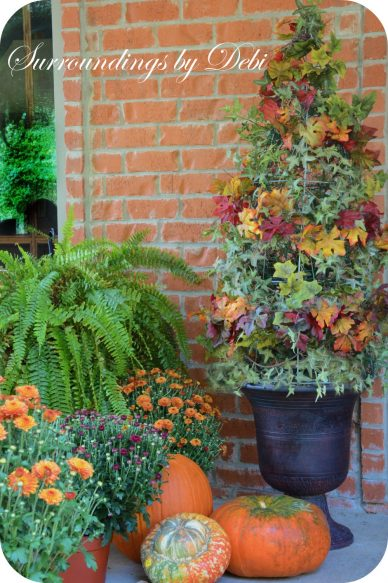Fall Tomato Cage Topiary