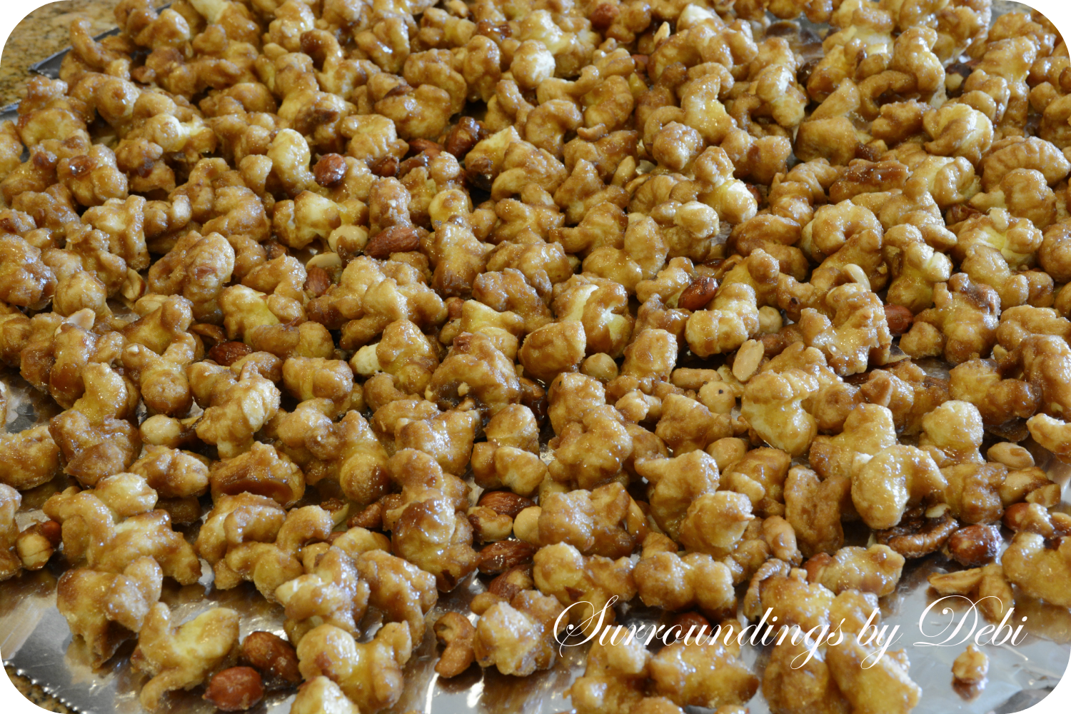Filling containers with Caramel Puff Corn with Nuts would make a ...