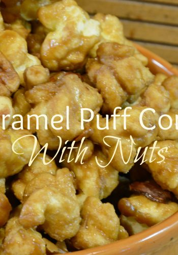 Caramel Puff Corn with Nuts – Delicious Fall Treat!!