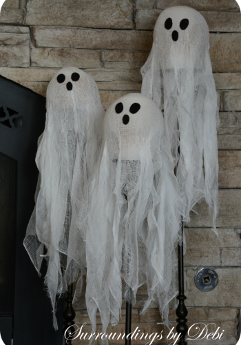 Cheesecloth Candlestick Ghosts – Whimsical Halloween Decor