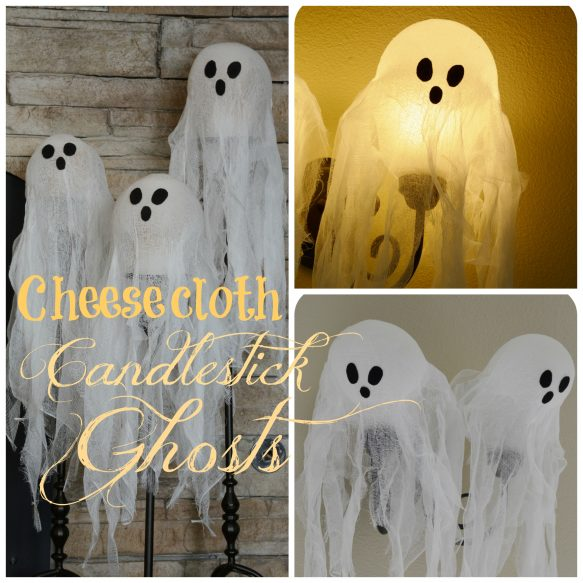 Cheesecloth Candlestick Ghosts