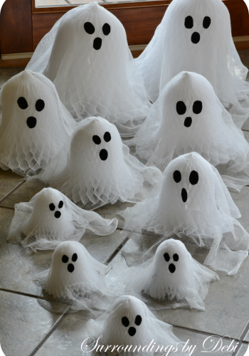 Cheesecloth Paper Bell Ghosts – A Country Living Recreate