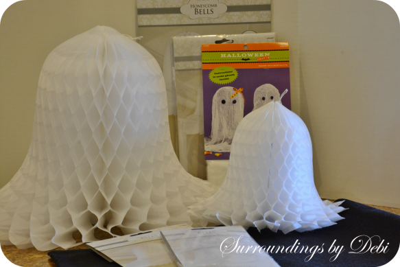 Cheesecloth Paper Bell Ghosts Needs