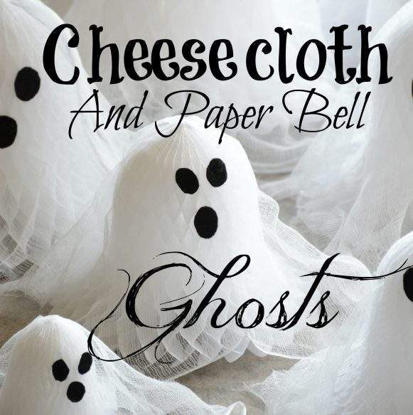 Cheesecloth Paper Bell Ghosts Overlay Small