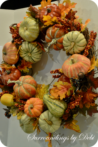 Completed Harvest Pumpkin Wreath