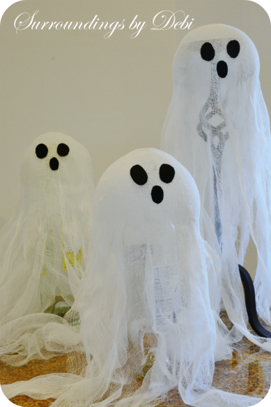 Eyes on the Cheesecloth Candlesstick Ghosts
