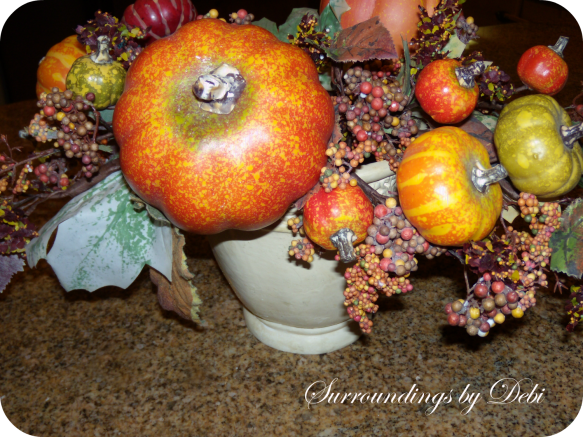Fall Arrangement Fluffing
