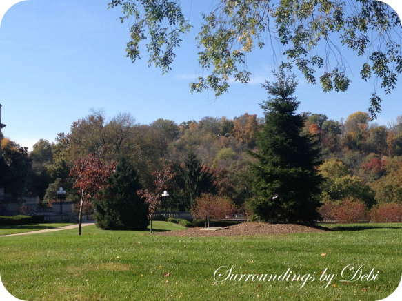 Fall View of the Kentucky Governors Mansion Grounds