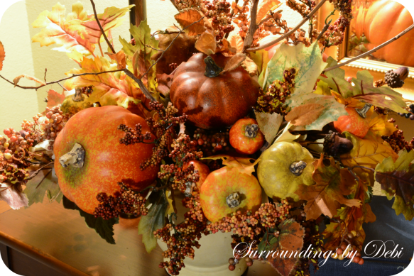 Faux Fall Arrangement Vignette