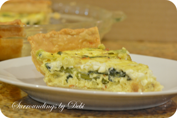 Feta Cheese & Vegetable Quiche