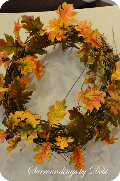 Harvest Pumpkin Wreath Leaves