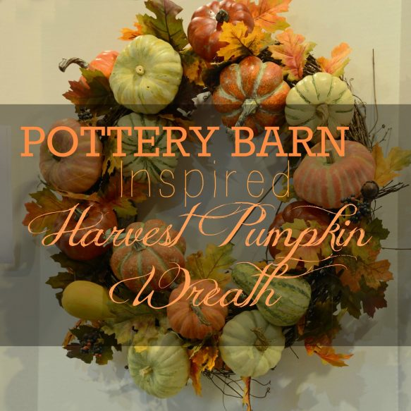 Harvest Pumpkin Wreath Overlay