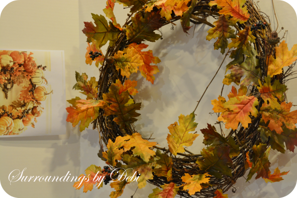 Harvest Pumpkin Wreath Recreation