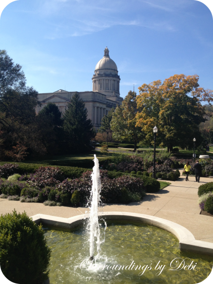Kentucky State Capitol with Fountain