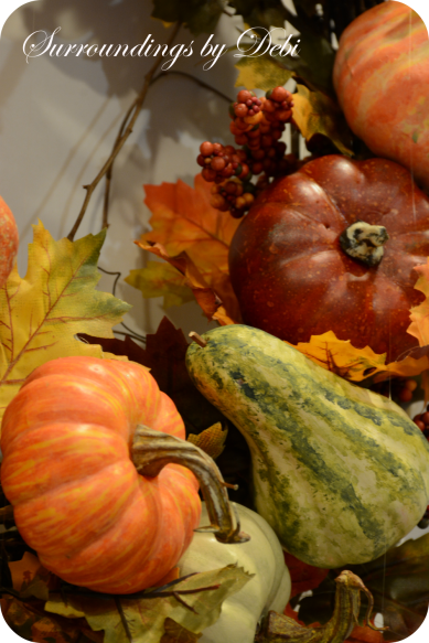 Pumpkins and Gourds on Wreath
