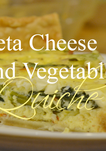 Feta Cheese & Vegetable Quiche – Light and Delicious