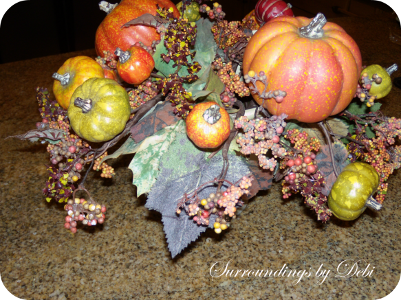 Straightening the Fall Faux Arrangement