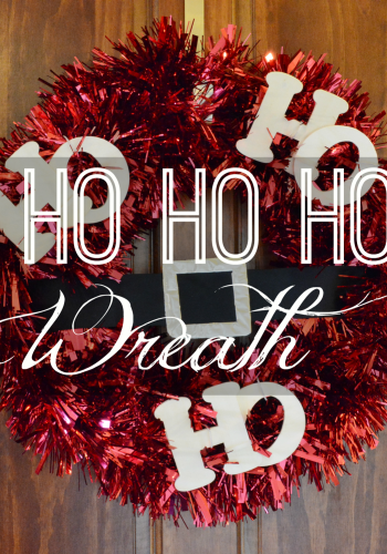 DIY Ho Ho Ho Wreath – A Whimsical Christmas Addition