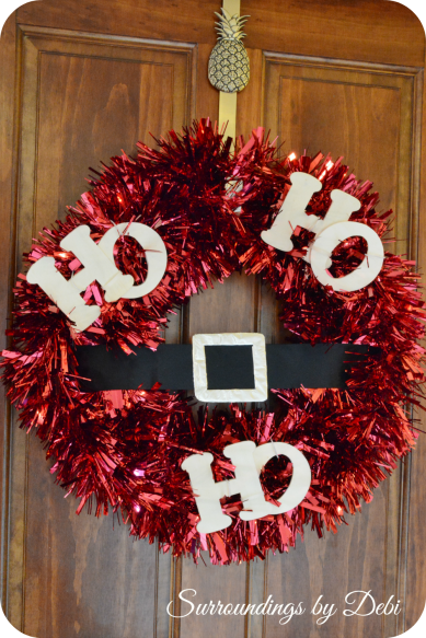 Ho Ho Ho Wreath on Door