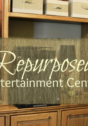 Repurposed Entertainment Center – Office Addition