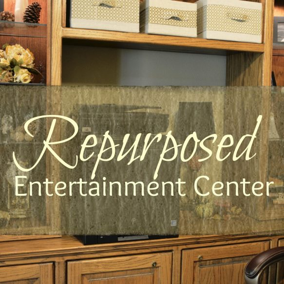 Repurposed Entertainment Center Overlay
